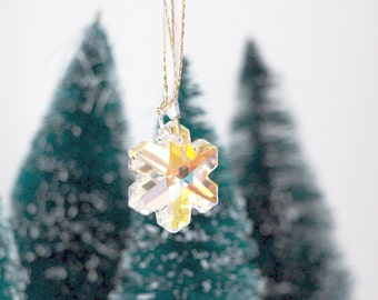 Mothers Day Gift - Christmas Tree Ornament - Crystal Snowflake Ornament - Christmas Decoration - Christmas Stocking Stuffer - Gift For Woman