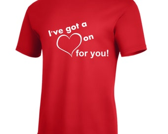 Valentines Day Heart on for you t-shirt