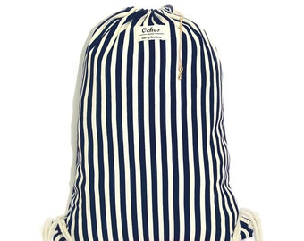 Ochos | Blue Stripes Sack Bag