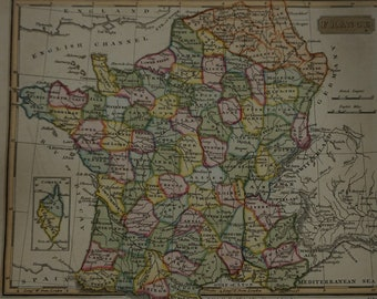 1814  J Russell Map of France