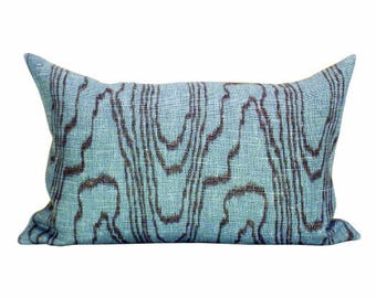 Agate lumbar pillow cover in Lake/Mint