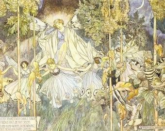 A MIDSUMMER NIGHT'S DREAM by Stephen Reid, Instant Download Printable Art, William Shakespeare Titania Fairy Queen Fairies Fae Fantasy P79