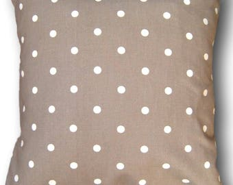 Cushion Cover made with Dotty Taupe Clarke & Clarke Fabric Spotty Scatter Pillow - Made in England