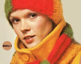 Crochet Pattern, Womens Crochet Hat Pattern, Brimmed Hat Crochet Pattern. Christmas Gift Idea, INSTANT Download Pattern PDF (1501 MWU-2)