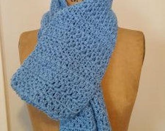 "The ""All Together"" Scarf Crochet Pattern, pdf file, instant download"