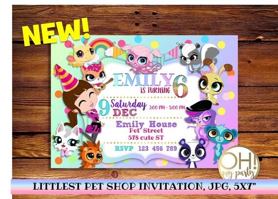 littlest pet shop invitation littlest pet shop partylittlest