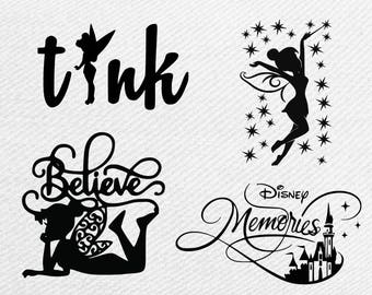 Disney Tinkerbell svg bundle, Tinkerbell clipart, tinkerbell silhouette svg,png,dxf