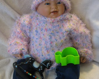 Set of sweater and hat for children 9-12 months