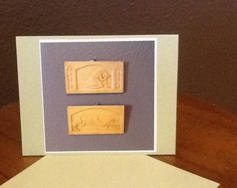 Tears and Repose          4 Blank Cards  with photo of Artwork by Waino Korjula