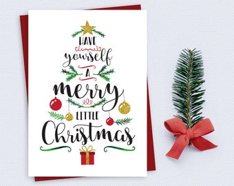 Have yourself a merry little christmas card christmas card christmas card have yourself a merry little christmas instant download printable christmas card solutioingenieria Gallery