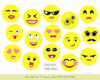 Emoji SVG, emoji decal, emoji clipart, emoji party, svg files for cricut  INSTANT DOWNLOAD - Royalty Free, Commercial Use, Business Use.