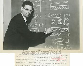 Photo plastic inventor Dr. Joseph Gaynor vintage photo