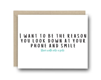 I Love You Card - I want To Be The Reason -  Anniversary Card, Valentine's Day Card, Witty Love Card, Birthday Card, Friendship Card