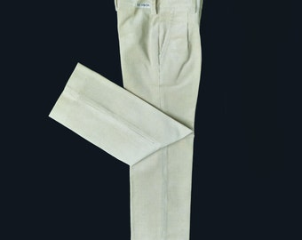 70's Cord Pleated Trousers French Stock 8-10, 10 years+