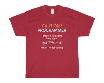 Caution Programmer Tee Shirt
