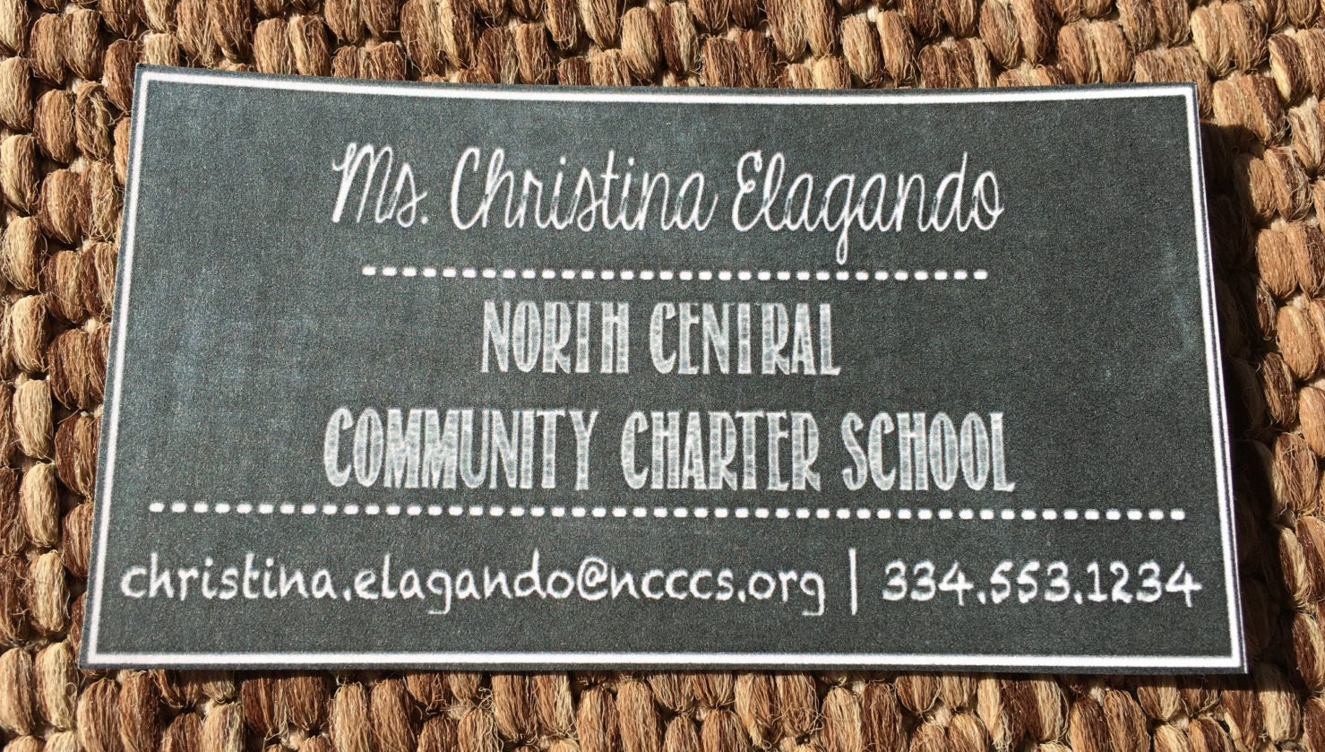 Business Cards for Teachers and Substitutes. Print and Cut.