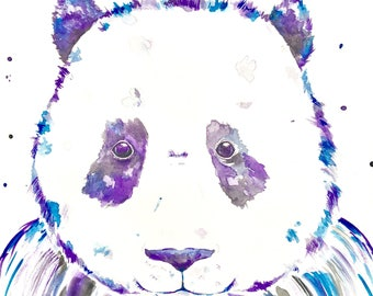 Panda Watercolour Art Print