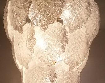 Murano chandelier, modern glass leaf chandelier,a stunning peace of murano art glass, deckenlampe, kroonluchter, lustre