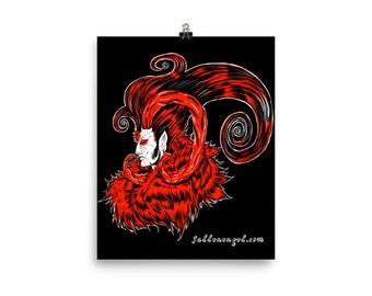 Lucifer Poster Print Black Background