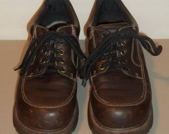 Vintage Shoes Dr Martens Brown Leather Oxford/Lace Up Boho Goth Gothic Shoes Dr Martens 7 Hippie Shoes Doc Martens Platform Shoes T30 MA7173