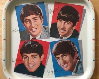 Original 1964 U.K. Beatles Metal Serving Tray