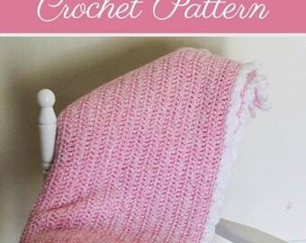 Ellen Baby Blanket | Baby Blanket Crochet Pattern | Crochet Baby Blanket Pattern | Crochet Preemie Blanket Pattern | PDF Pattern