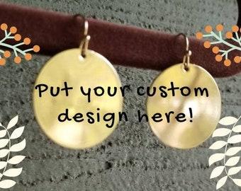 Custom Monogram/Personalized Earrings!