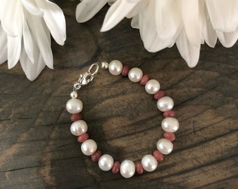 Baby Bracelet Freshwater Pearls and Sterling Silver