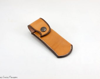 Case knife leather - case Opinel leather - tanning plant