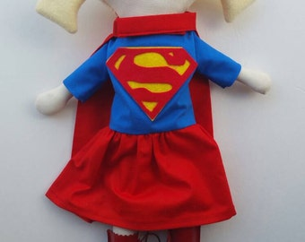 Custom Super Girl or Boy- maylo studio doll ragdoll handmade nursery superhero girl boy nursery decor blonde hair