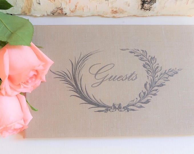 Olive Wreath Personalized Guest Book