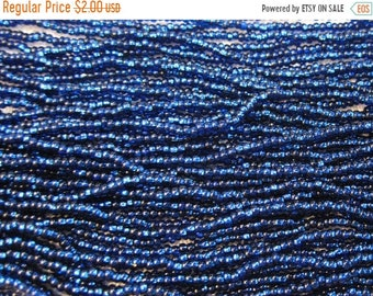 ON SALE 11/0 Montana Blue Silver Lined Genuine Czech Glass Preciosa Rocaille Seed Beads 18 grams