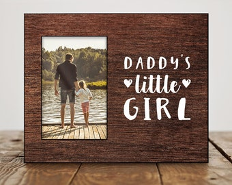 Fathers Day Gift from Daughter Daddys Little Girl Fathers Day Photo Frame Fathers Day Picture Frame Birthday Gift for Dad from Daughter Cute