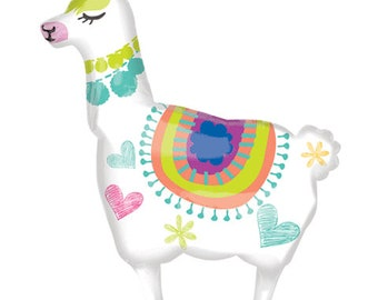 "Llama Party Balloon, 28"", Llama Balloon, Birthday Decorations, Llama Party, Party Supplies, Baby Shower, Llama Theme"