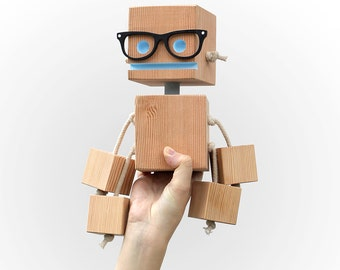 William Woodsworth robot made from reclaimed wood Christmas Gifts For Men, Gift For Boyfriend, Mens Gift, Gift For Husband