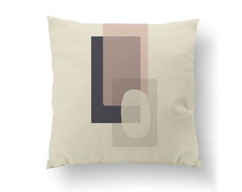 Textured Rectangles, Home Decor, Decorative Pillow, Pink Purple, Simple Design, Subdued Colors, Cushion Cover, Pastel Decor, Throw Pillow