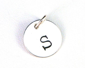 Add A Charm: Sterling Silver Initial Pendant