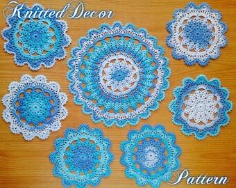 Crochet Doily Pattern Crochet Doily Placemat Lace Doily Crochet Mandala Doily Table Centerpiece Tutorial Set Doily Pattern PDF Doily DIY