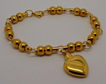 24k Gold Plated Cremation Urn Bracelet - Beaded Ball Keepsake Bangle - Holds Ashes - Engraving/Personalised/Bespoke Unique Funeral Vial