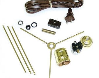 Fan lamp kit diy kit how to lamp parts lamp supplies table lantern hardware pack lamp parts lantern parts lighting supplies lamp supplies aloadofball Image collections