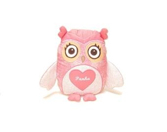 Owl Pillow, Custom Baby Pillow, Eco Friendly Stuffed Toy
