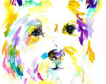 Westie Watercolor Print, Print of Westie, Westie Watercolor Art, Westie Painting, Dog Painting, Dog Portrait, Print of Dog, Terrier Painting
