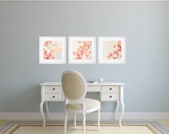 Fard à joues rose sticker art, cherry blossom, mur de toile d'art, toile art mural, blsh rose décor, art de toile, photographie de fleur, art mural grand