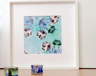 Dice Games, Abstract Art, Printable Poster Art, digital picture, abstract digital print, modern art, colourful art, digital print