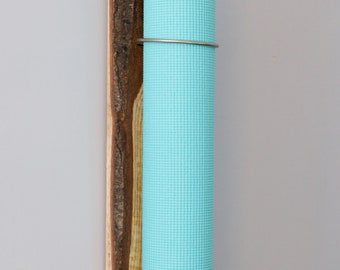 Live Edge Oak - Yoga Mat Holder
