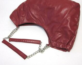 Rust Oxblood Brown Purse Handbag Saddlebag Large Western Shoulderbag