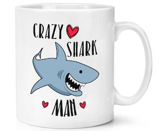 Crazy Shark Man 10oz Mug Cup