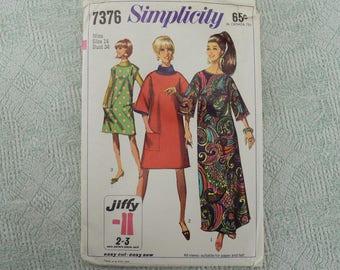 Simplicity Sewing Pattern 7376 Dress 1967 size 14