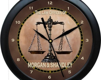 "Law Office 10"" Personalized Attorney Wall Clock"