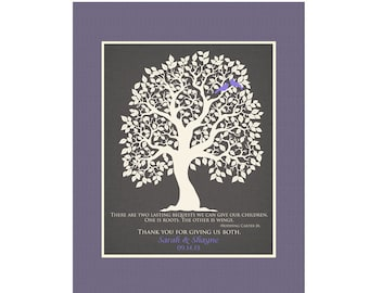 Gift for Parents of Bride, Parents of Groom, Wedding Thank You Gift, Mother of the Groom, Mother of the Bride, Wedding Tree